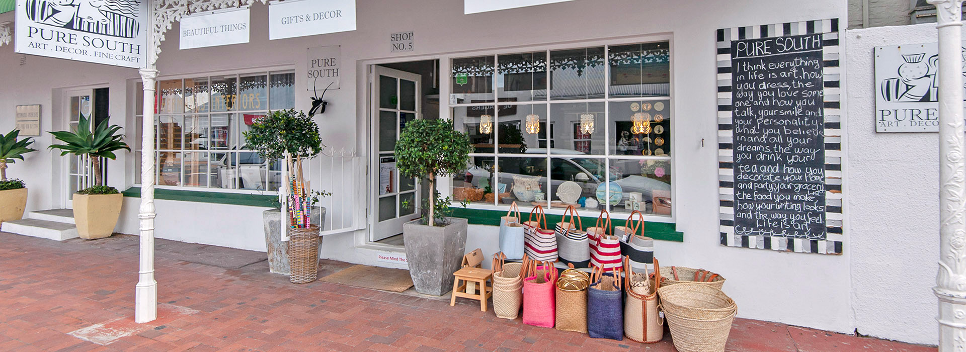 Handmade decor shop Hermanus South Africa